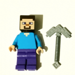 Lego Minecraft Steve with pick axe minifigure genuine parts